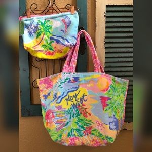 Lilly Pulitzer Get Away Tote and Pouch